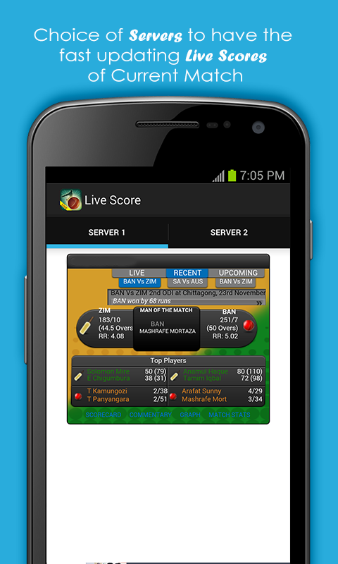 Live Cricket Scores and Schedule Portfolio